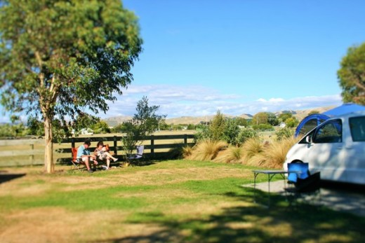 Spacious campervan site at Martinborough TOP 10