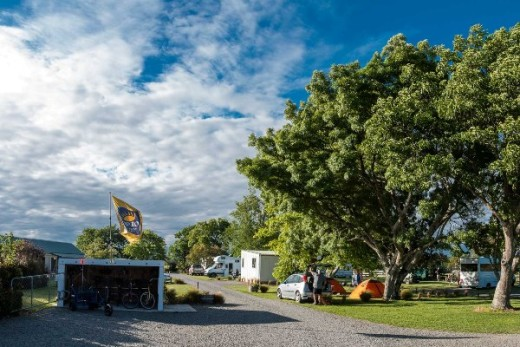 Martinborough TOP 10 Holiday Park from the Entrance