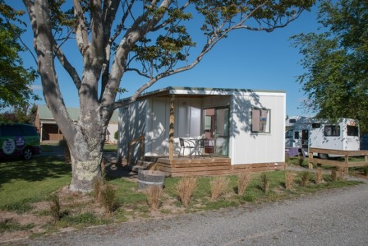 Spacious two room family cabin shares the communal holiday park facilities.