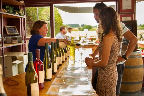Enjoy a leisurely wine tasting at the Margrain Vineyards Cellar Door.