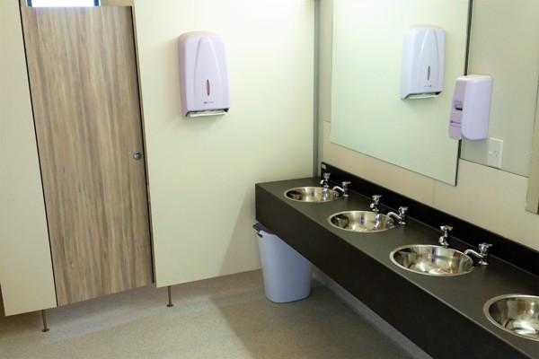 Ladies Bathroom Block