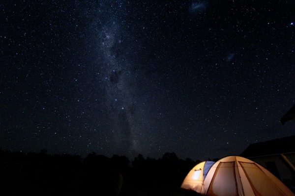 Camping under the Stars in Martinborough.
